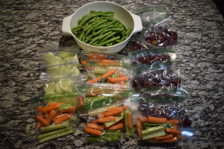 Green Beans, Celery _ Carrots, Grapes